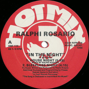 Ralphi Rosario - In The Night - Hot Mix 5 Records - HMF 110