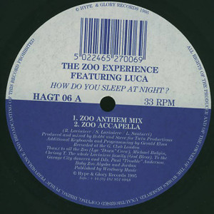 Zoo Experience - How Do You Sleep At Night? - Hype & Glory Records - HAGT 06