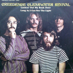 Creedence Clearwater Revival - Lookin' Out My Backdoor / Long As I Can See The Light - America Records - 17 018, America Records - 17018