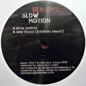 Ben Sims - Slow Motion - Theory Recordings - theory 040.1