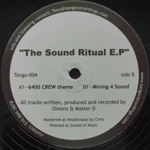 Elektrik Soul Brothers - The Sound Ritual E.P - Tango Recordings - TANGO 004