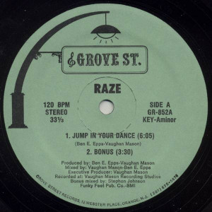 Raze - Jump In Your Dance / Jack The Groove - Grove St. - GR-852