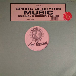 Spirits Of Rhythm - Music (Original & Booker T Mixes) - Azuli Records - AZNY 80, Azuli Records - AZULI 80