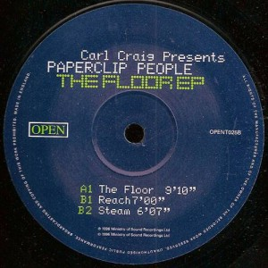 Carl Craig Presents Paperclip People - The Floor EP - Open - OPENT025