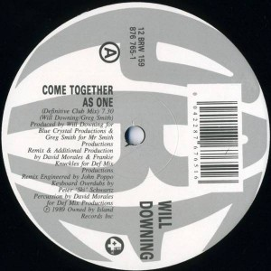 Will Downing - Come Together As One - 4th & Broadway - 12 BRW 159