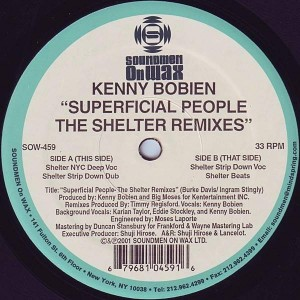 Kenny Bobien - Superficial People (The Shelter Remixes) - Soundmen On Wax - SOW-459