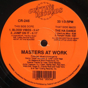 Masters At Work - Blood Vibes / The Ha Dance - Cutting Records - CR-246