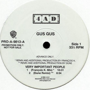 GusGus - Very Important People - Warner Bros. Records - PRO-A-9813