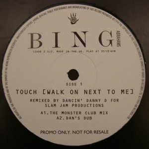 Bing Abrahams - Touch (Walk On Next To Me) - Hands On Records - 12HOR 2 DJ2