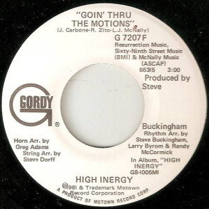High Inergy - Goin' Thru The Motions - Gordy - G 7207