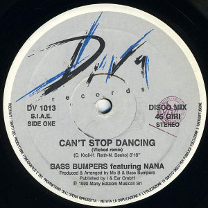 Bass Bumpers - Can't Stop Dancing - Diva Records - DV 1013
