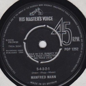 Manfred Mann - 5-4-3-2-1 / Without You - His Master's Voice - POP 1252