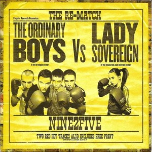 The Ordinary Boys Vs Lady Sovereign - Nine2Five (The Re-Match) - B-Unique Records - BUN105-7, Polydor - BUN105-7