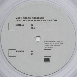 Mark Broom - The London Sessions Vol One - Autoreply Music - AUTO023