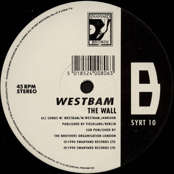WestBam - The Roof Is On Fire! (Ultimate Mix) - Swanyard Records Ltd - SYRT 10
