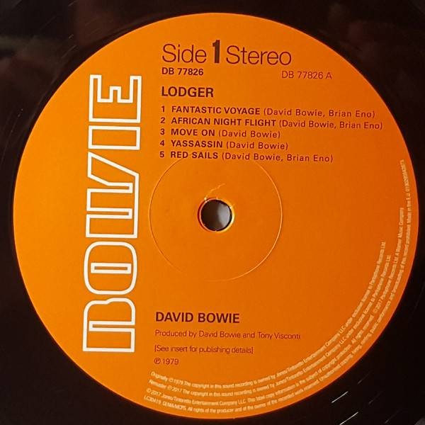 David Bowie - Lodger - Parlophone - DB 77826