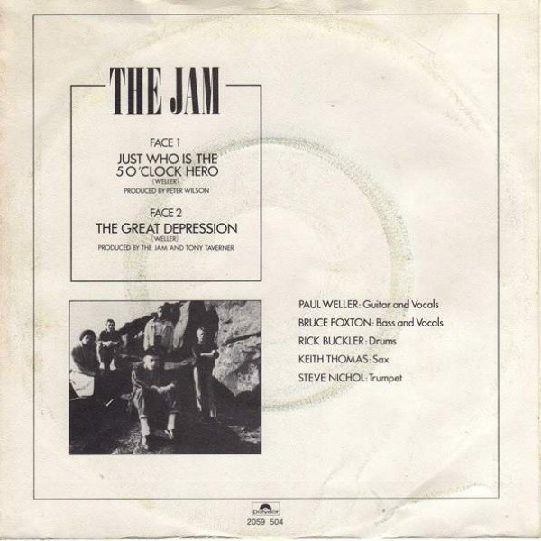 The Jam - Just Who Is The 5 O'Clock Hero - Polydor - 2059 504