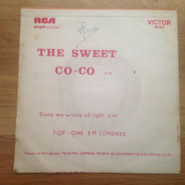 The Sweet - Co-Co - RCA Victor - 20 034, RCA - 20 034