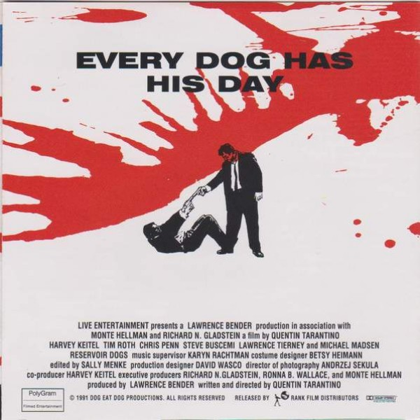 Various - Reservoir Dogs - Music From The Original Motion Picture Soundtrack - MCA Records Ltd. - MCD 10793